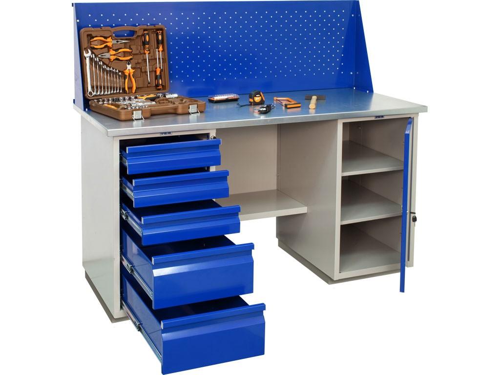 Верстак Церера-Мебель  WB 160Sh+WD1+WD5