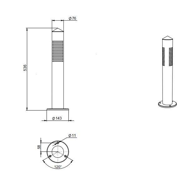 Уличный светодиодный светильник FGL 01-15-850-S