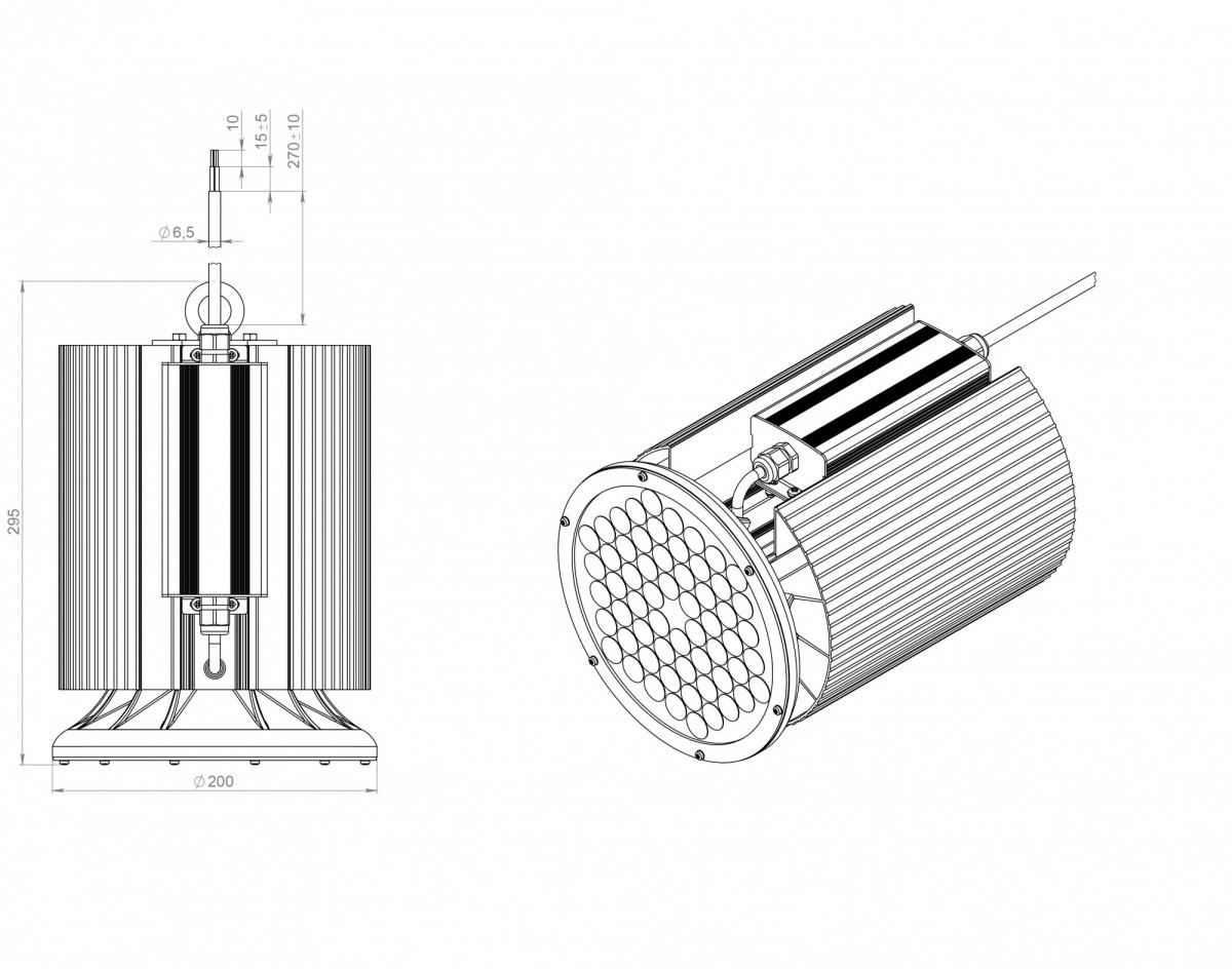 Светодиодный светильник ДСП 07-70-50-Д120-03
