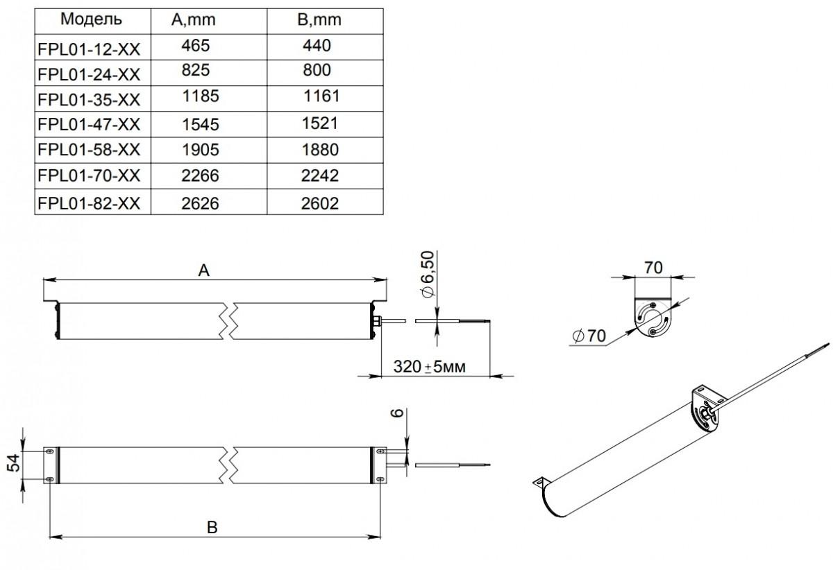 Светодиодный светильник FPL 01-47-50